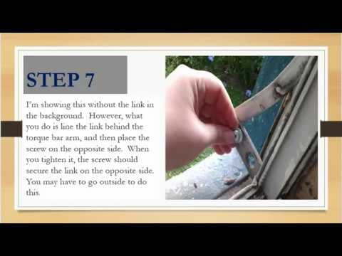 How to Replace an Awning Window Operator