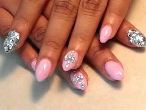 Beautiful Stiletto Nails with bow Design - YouTube