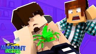 Minecraft Insetos #10 - TEM UM BICHO NA BARRIGA DO MEU AMIGO!!