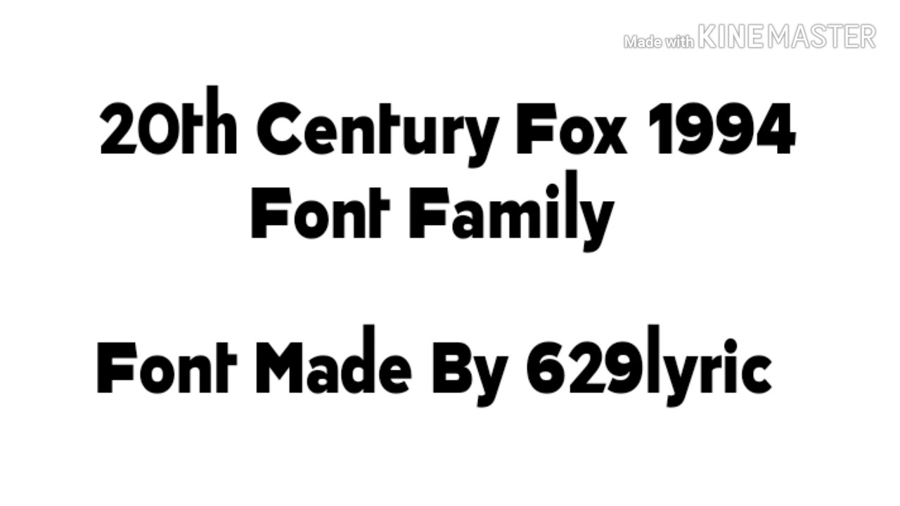 Here S The Font Family Of Tcf 1994 Font Family Youtube
