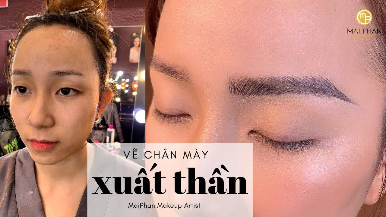 Vẽ chân mày gẩy sợi ĐẸP XUẤT THẦN   Mai Phan Makeup