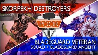 REDO Indomitus Face-off: Skorpekh Destroyers vs. Bladeguard Veteran Squad