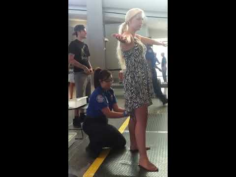 TSA pat down Sacramento international airport