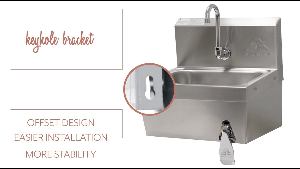 Advance Tabco 7-PS-62 Wall Mount Commercial Hand Sink - YouTube