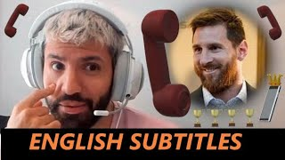 Kun AGUERO calls MESSI On Stream 📞⚽ | ENGLISH SUBTITLES |
