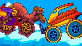УТЮГ и Змей Горыныч в игре Хищные машины с Кидом #27 Молния и Пила в Car Eats Car Multiplayer на мк