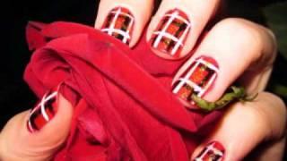 Easy Plaid Nails