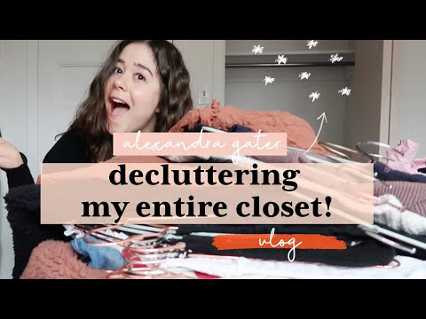 decluttering-my-*messy*-closet-and-trying-on-my-clothes- -closet-cleanout-2020