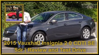 Review and Virtual Video Test Drive In Our 2015 Vauxhall Insignia 2 0 CDTi SE 5dr FG15JBY