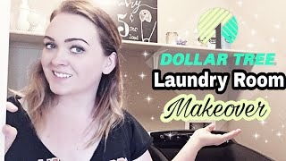 LAUNDRY ROOM ORGANIZATION | DIY and Dollar Tree| Decorate With Me