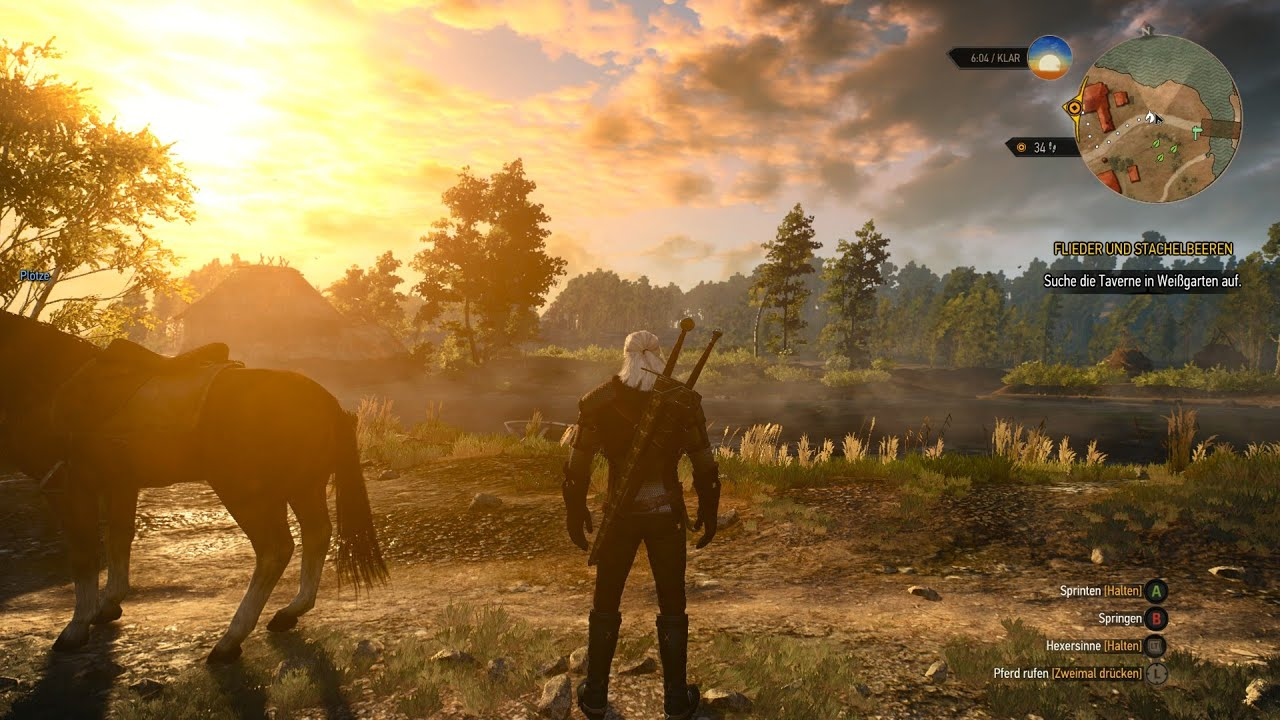 4k the witcher 3 xbox one x gameplay performance test youtube