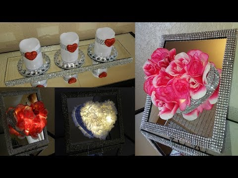 Dollar Tree DIY Glam Valentines Day Home Decor|| DIY Glam Home Decor Ideas using Dollar Tree Items