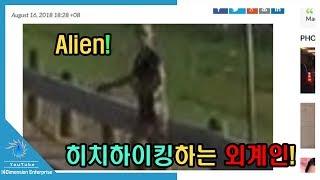 또 다시 이상한 외계인 동영상이 공개되었다. 무려 외계인이 길가에 서...