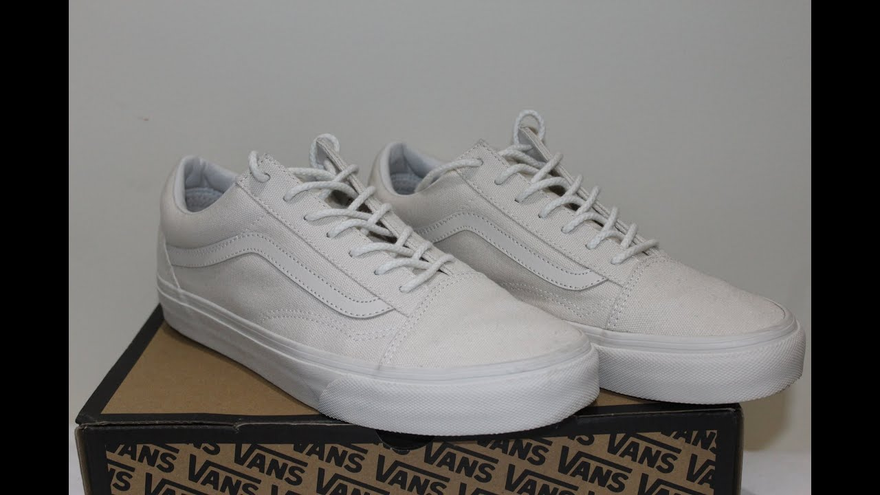 222b4604fa Vans old skool reissue CA  birch white  review - YouTube