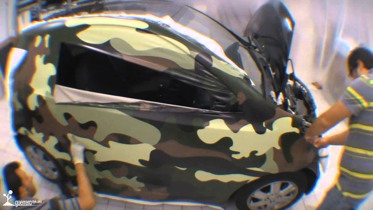 Toyota Iq Car Wrapping By Guerrerastyle Com Youtube