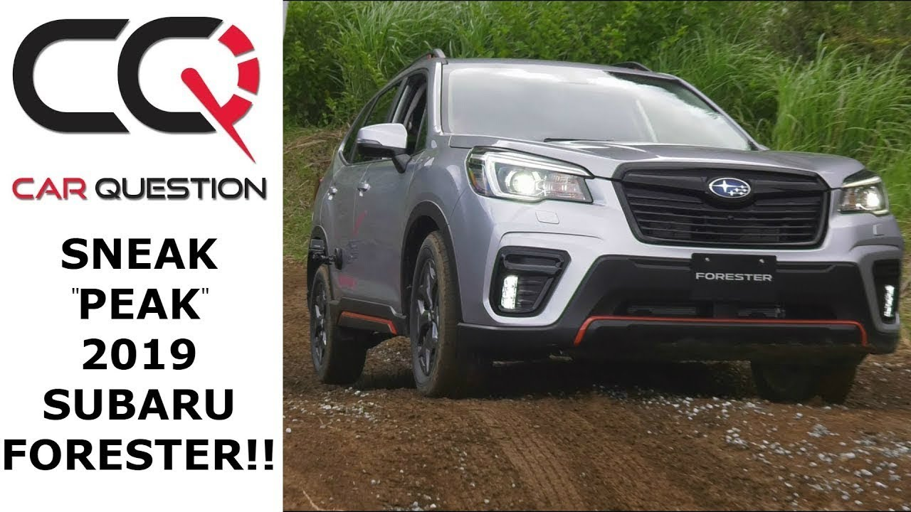 Sneak Peak 2019 Subaru Forester On And Off Road Youtube