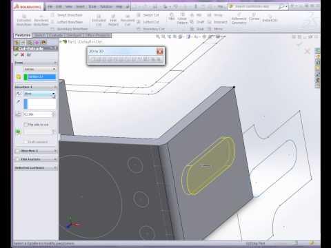Convert a 2D DWG to SolidWorks 3D Model