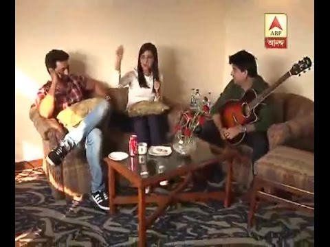Dev, Rukshini and Jeet Ganguly at discussions on 'Champ'