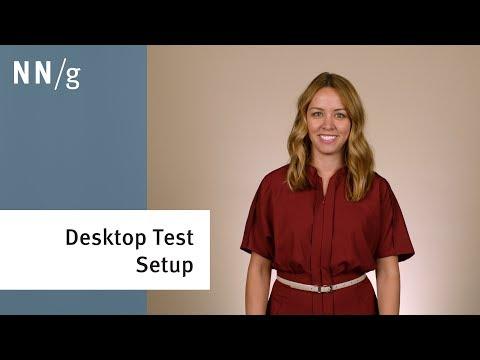 How to Setup a Desktop Usability Test