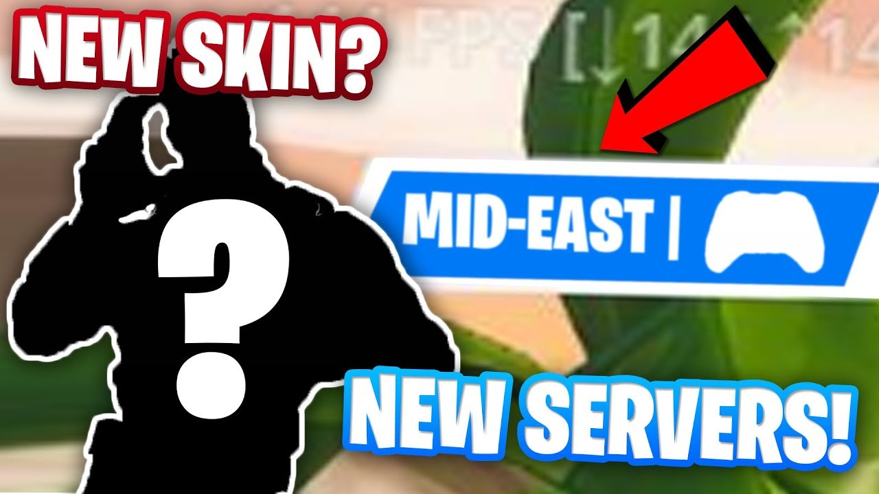 MIDDLE EASTERN SERVERS AND A NEW SKIN FINALLY COMING TO FORTNITE?!