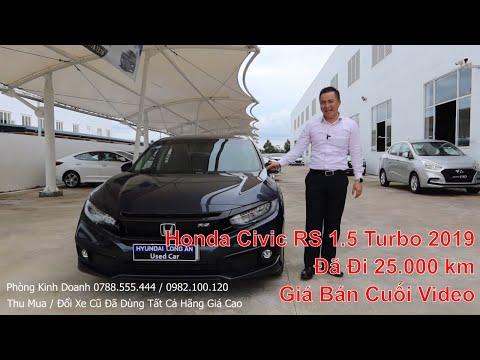 Bán Xe Honda Civic 2019 1.5RS Màu Xanh Nhập Thái Mẫu 2020 2021. Hỗ Trợ Mua Xe Civic Cũ Trả Góp