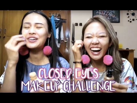 Closed Eyes Makeup Challenge Ft. @querramellca
