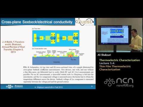 nanoHUB-U Thermoelectricity L3.4: Nano/Macroscale Characterization - Thin Film Characterization