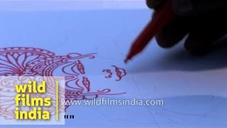 How to draw a Kathakali dancer