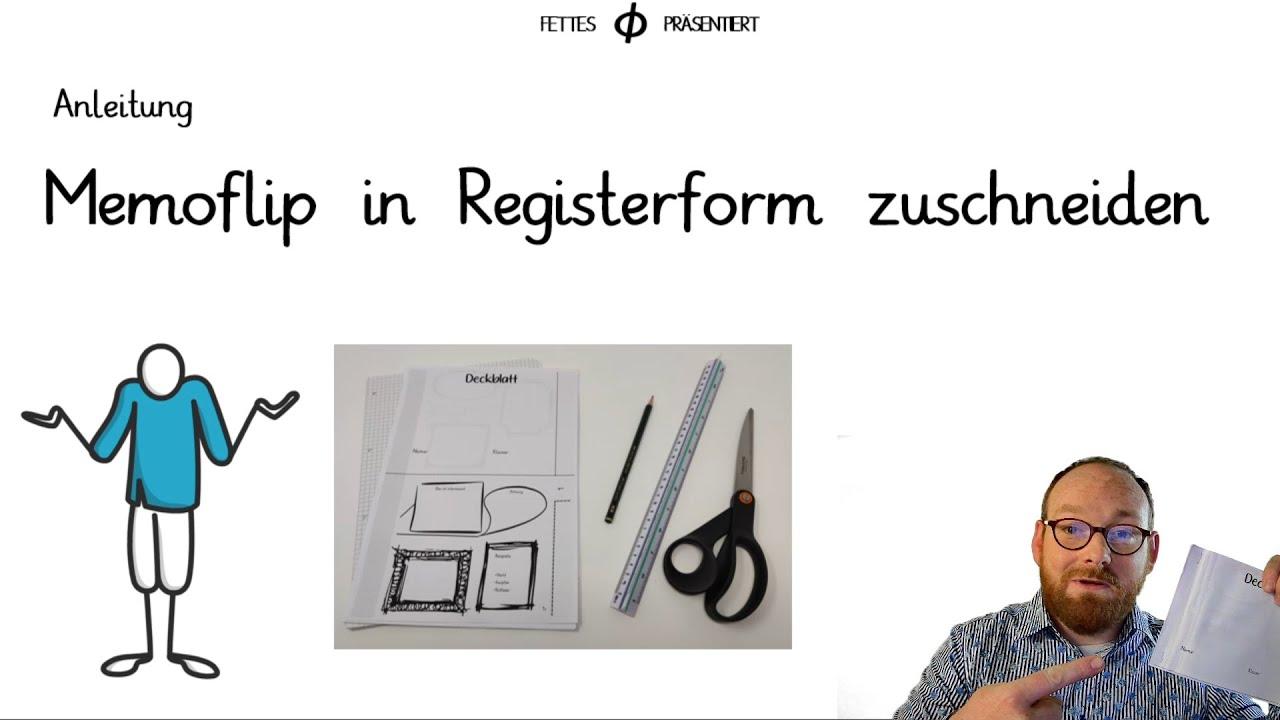 Anleitung Memoflip In Registerform Zuschneiden Vorlage In Der Beschreibung Youtube