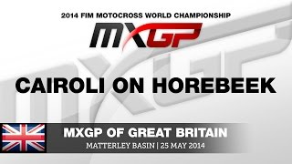 MXGP of Great Britain 2014 Cairoli On van Horebeek - Motocross