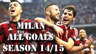 AC Milan all goals in 2014 | season 2014/15 HD