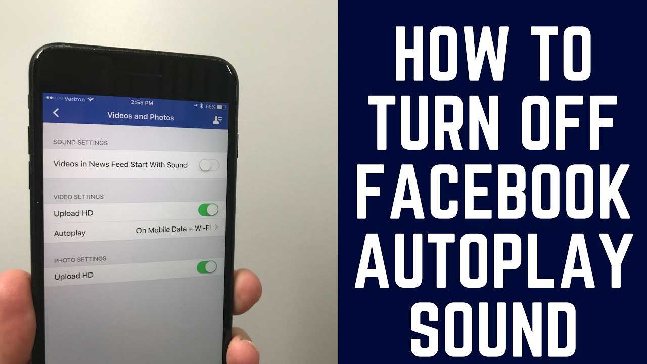 How to Turn Off Facebook Autoplay Video Sound