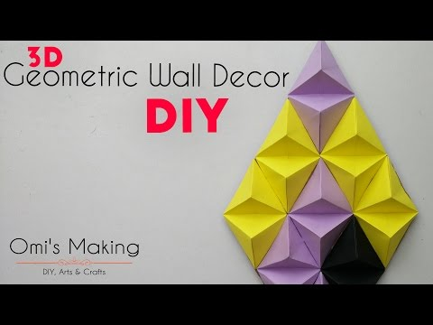 DIY 3D Geometric Wall Decor