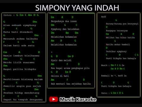 SIMPONY YANG INDAH KARAOKE   KUNCI GITAR-TANPA VOCAL