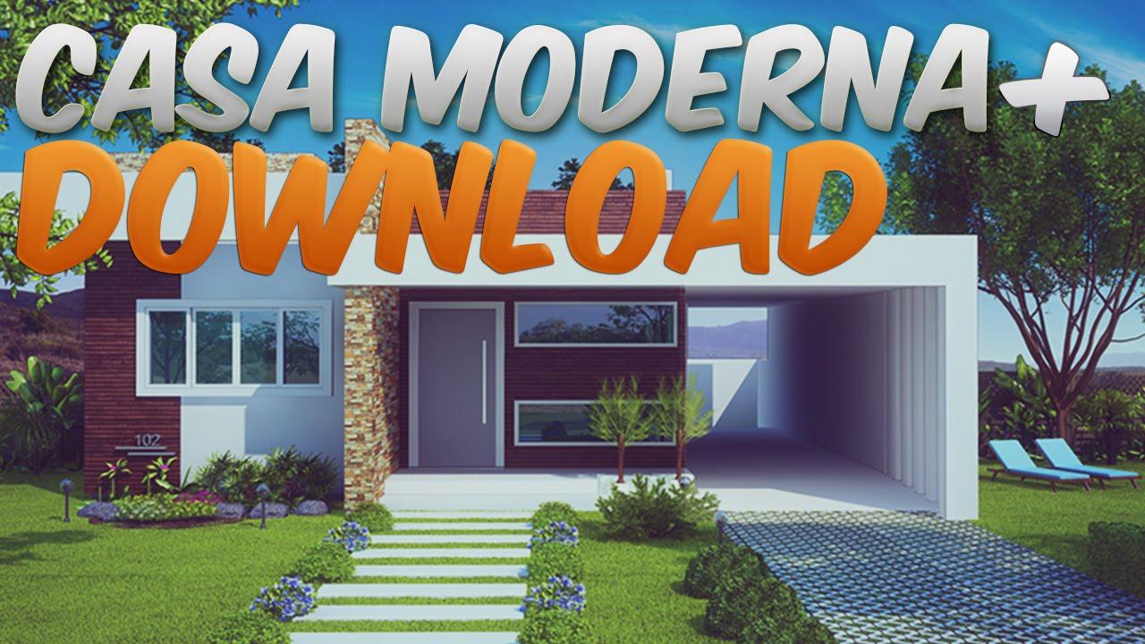 Minecraft mapas casa moderna epico download youtube for Casa moderna minecraft ita download