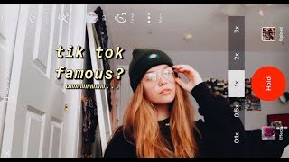 TRYING to get tik tok famous in a week, a challenge// maki x sarah