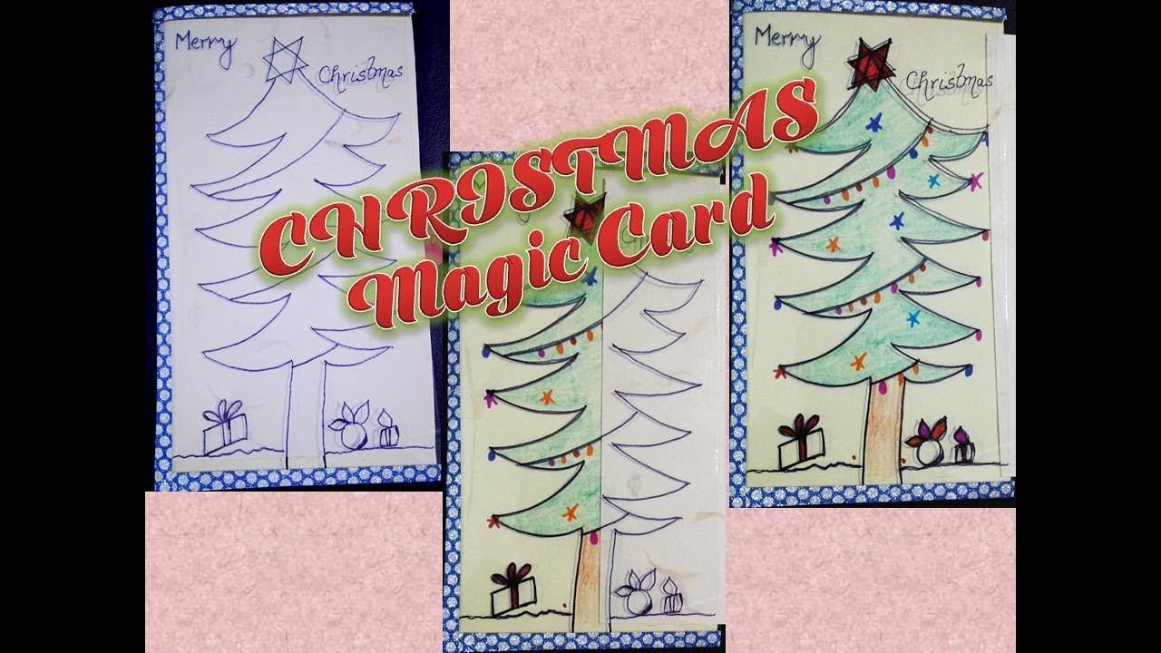 DIY Christmas Magic Card/ How to make Magic Card / Christmas Crafts ...