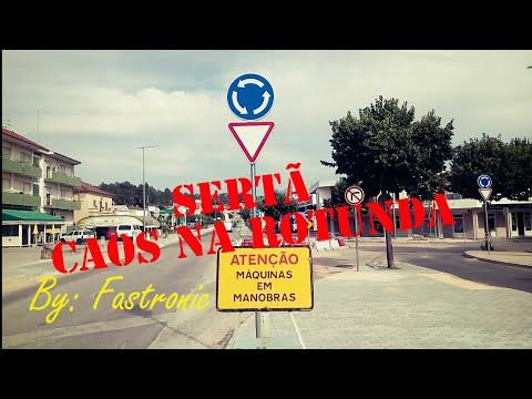 Ninguém respeita a rotunda nova na Sertã