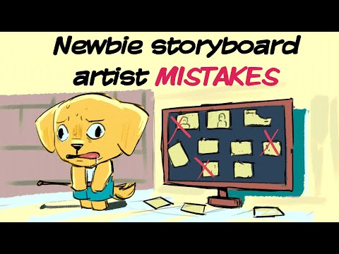 Common MISTAKES beginning storyboard artists make for animation