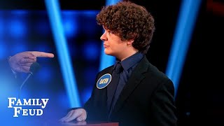 Maddie Ziegler and Gaten Matarazzo face off! | Celebrity Family Feud