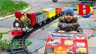 Виды железнодорожного транспорта Паровозик Поезд Обзор игрушки Железная дорога Мультик про Машинки