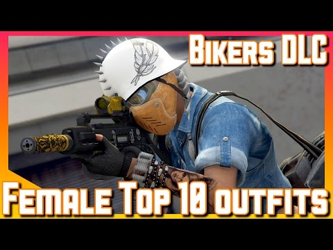 Female Top 10 Outfits | Biker DLC | GTA V online Gameplay