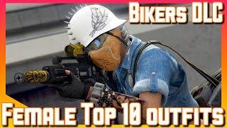 Female Top 10 Outfits | Biker DLC | GTA V online Gameplay