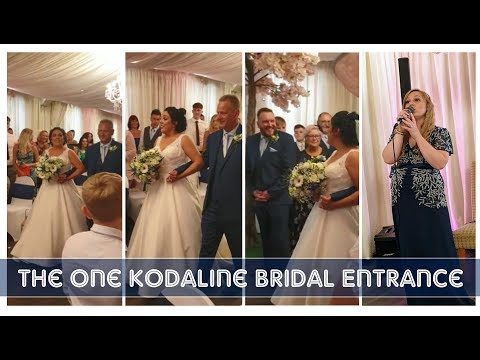 Lauren's Bridal Entrance - The One Kodaline - Sung by Chloe Boulton