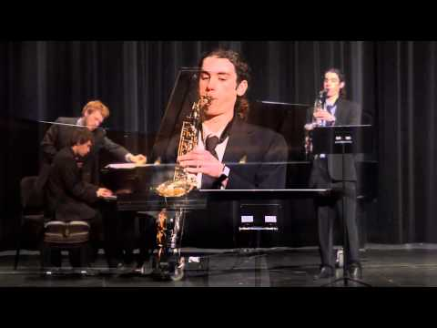 """Sonata for Alto Saxophone and Piano"" (Woods) - Gabe Scheid and Seth Butler"