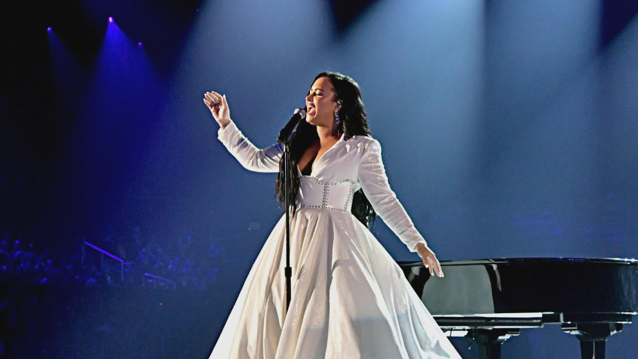 demi lovato cries while performing new song anyone grammys 2020 youtube demi lovato cries while performing new song anyone grammys 2020