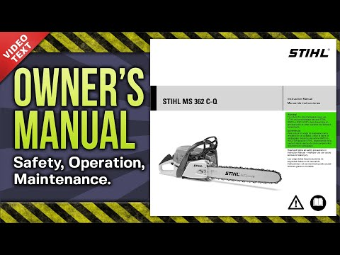 Owner's Manual: MS 362 C-Q Chain Saw