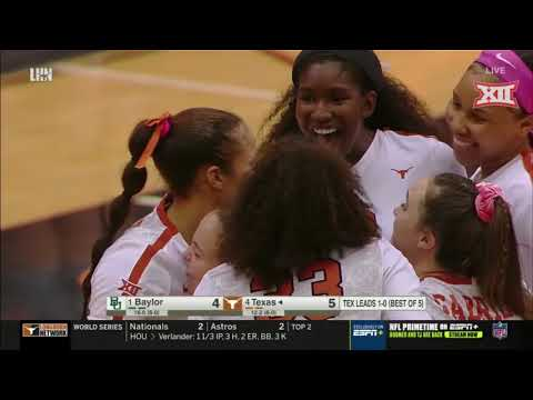 Baylor at Texas Volleyball Highlights from YouTube · Duration:  4 minutes 19 seconds