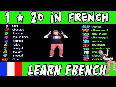 1 - 20 in French | Learn French with Jingle Jeff | Big Numbers in French