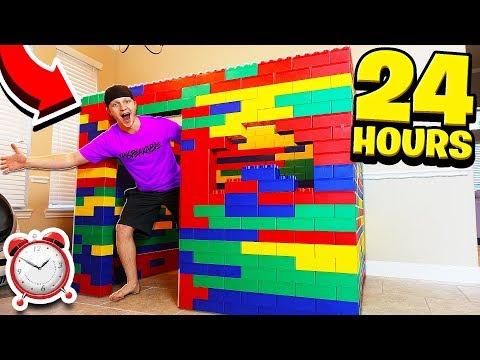 24 HOUR GIANT LEGO HOUSE CHALLENGE!